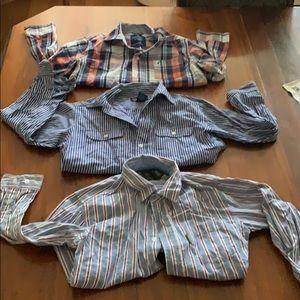 Boys dress shirts polo nautica Eddie Bauer